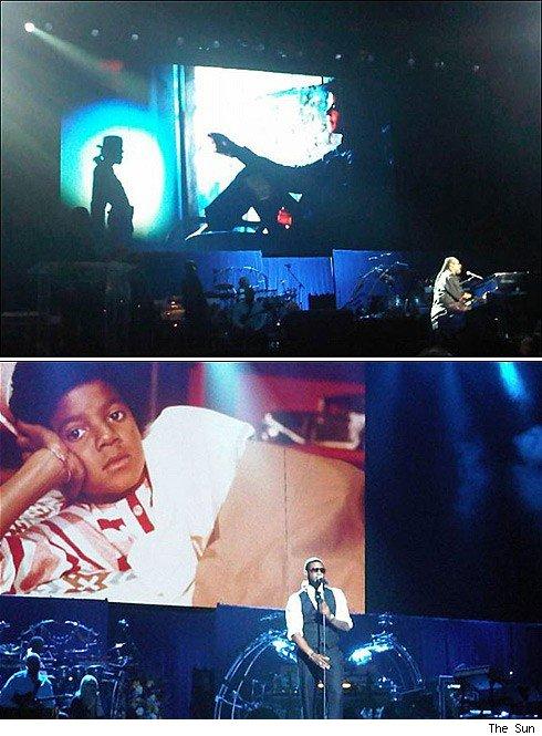 Steve Wonder e Usher cantam em homenagem a Michael Jackson